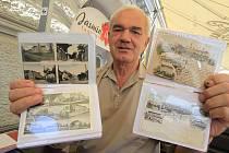 Nevšední sbírkou stovky starých pohledů a fotografií jihočeské metropole a blízkého okolí se může pochlubit 68letý Ladislav Helcl z Bohušovic nad Ohří v okrese Litoměřice.
