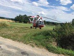 V Záblatí u Dřítně zasahoval vrtulník letecké záchranné služby.
