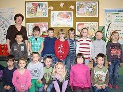 Děti z 1. B ze Základní školy Trhové Sviny.