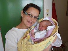 V náručí šťastné maminky Venduly Řezankové spokojeně odpočívá Markéta Pecková. Na svět se probojovala s porodní váhou 3,15 kg v pátek 30.5.2014 tři minuty po 13. hodině. Doma v Netolicích už se na ni moc těší jak tatínek Luboš Pecka, tak tříletý bratříček