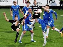 Minule doma fotbalisté Dynama přehráli Vítkovice 6:0 (na snímku Lukáš Havel střílí šestý gól vítězů), uspějí i v sobotním šlágru s Opavou?