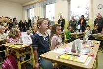 Zahájení školního roku v ZŠ Rudolfov.
