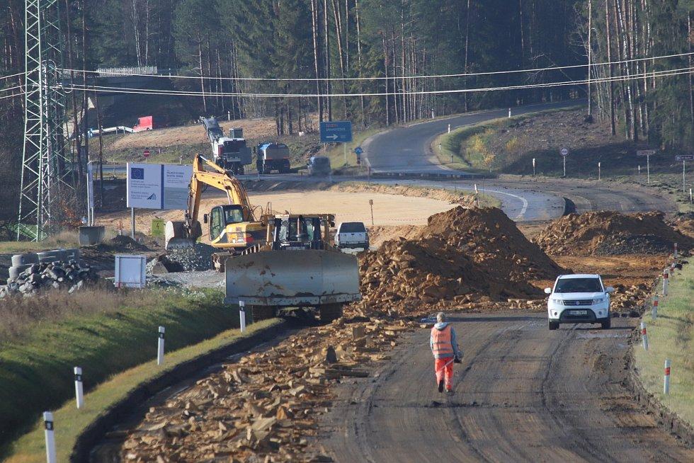 Stavba dálnice D3 mezi Veselím nad Lužnicí a Borkem u Českých Budějovic