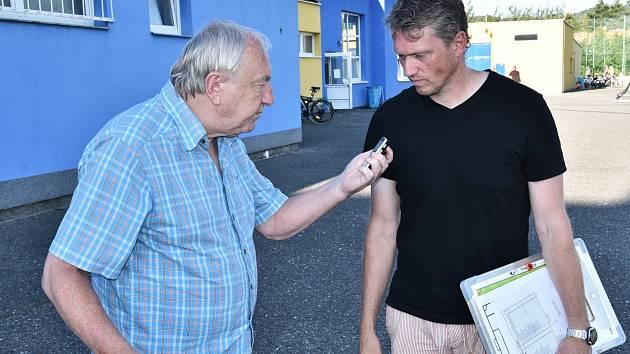 Nový trenér béčka Dynama Jindřich Tichai odpovídá v Písku na dotazy Deníku jižní Čechy.