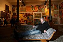 Michal Singer v krumlovském Egon Schiele Art Centru.