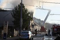 Požár v Českých Budějovicích na Štědrý den.