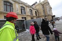 Rekonstrukce budovy vlakového nádraží v Českých Budějovicích.