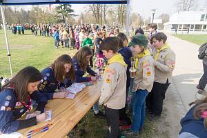 Na pouti, kterou pořádali v sobotu 13. dubna skauti na Sokolském ostrově v Českých Budějovicích, se představili veřejnosti a současně zvali do svých řad.