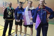 Vítězové pingpongového turnaje.
