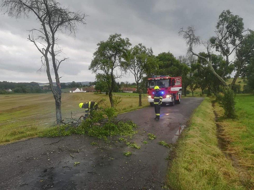 U popadaných stromů na Písecku zasahovala i písecká jednotka hasičů.