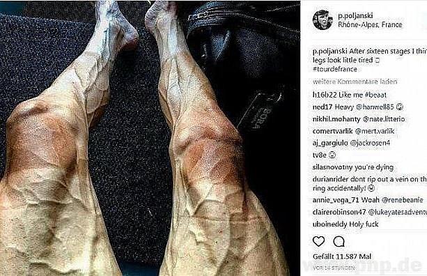 Nohy cyklisty na Tour.