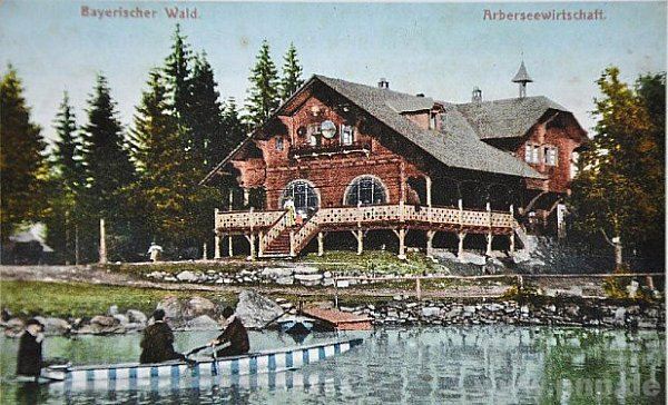 Chata pod Javorem vroce 1908.