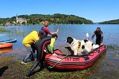V Přední Výtoni se celý týden koná česko-německý tábor vodních záchranných prací.