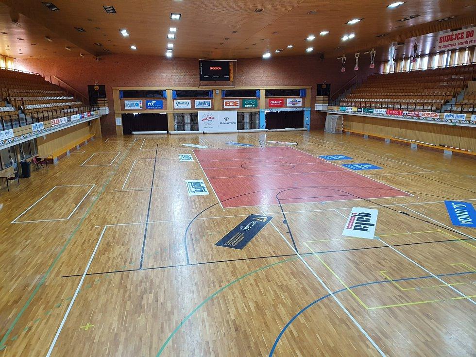 Sportovní hala bez diváků