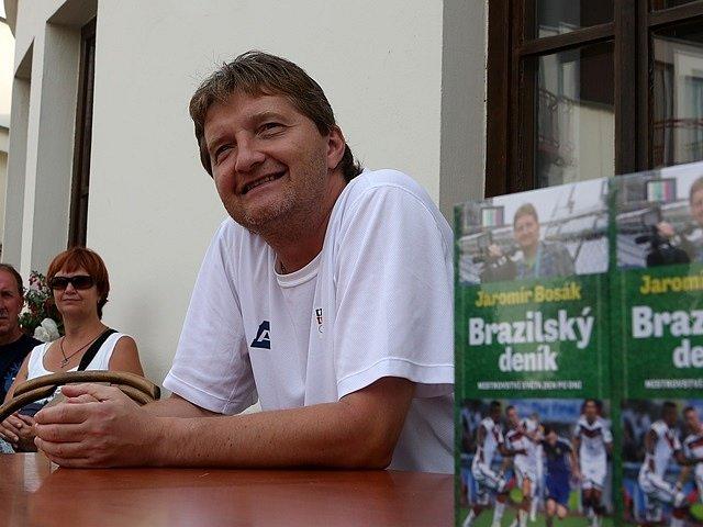 Autogramiáda Jaromíra Bosáka v Třeboni.