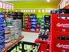 Pestrá nabídka nápojového centra Terno v Bechyni.