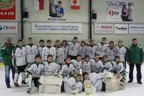Mladí hokejisté jižních Čech ročníku 2000 vyhráli turnaj tří krajských výběrů v Pouzar aréně.