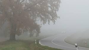 Jižní Čechy zahalila mlha