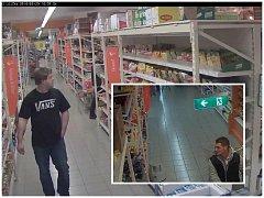 Údajné zloděje zachytila bezpečnostní kamera.