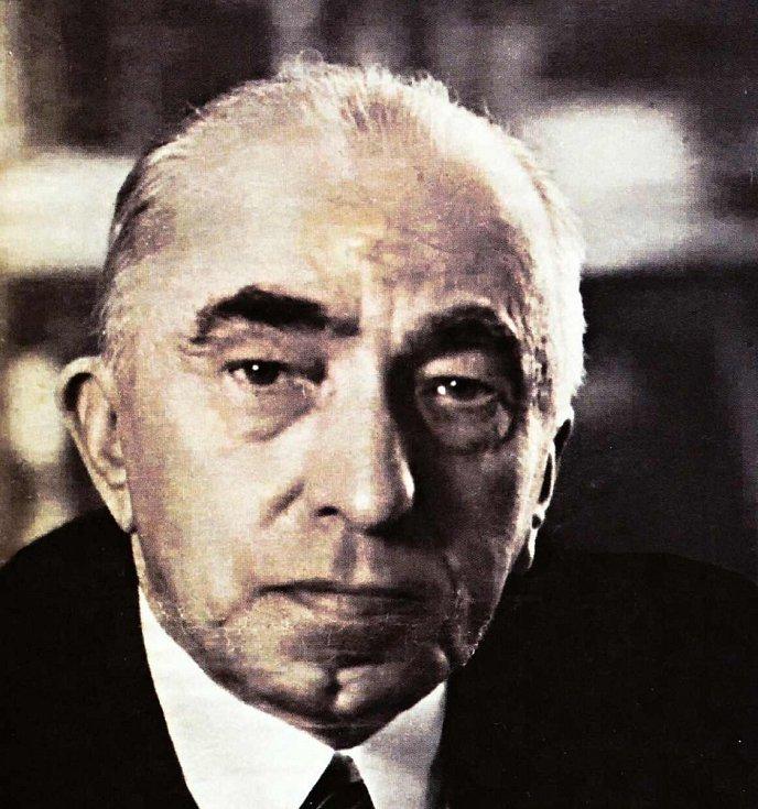 Protektorátní prezident Emil Hácha.