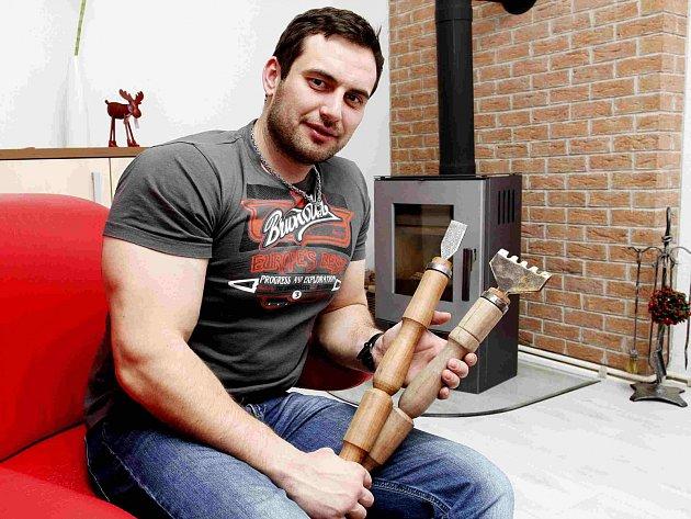 Druhé místo získal na mezinárodním festivalu ledových soch Daniel Šefčík z Tábora.