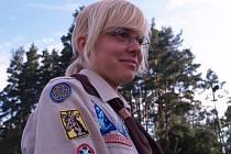 Osmnáctiletá Markéta Koppová je členkou českobudějovického dívčího oddílu již 11 let. V příštím roce ji čeká maturita. Na to, že by se poté se skautingem rozloučila, však zatím nepomýšlí.