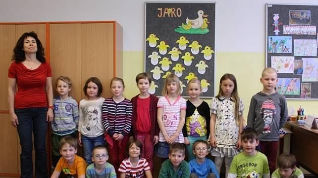 Žáci 1. D ze ZŠ a MŠ Nerudova.