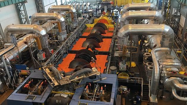 Mezi důležité činnosti budou patřit kontroly turbíny.