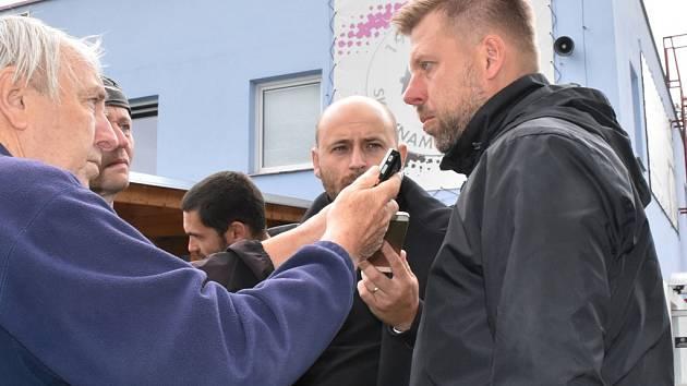 Trenér David Horejš po zápase Dynama s Benešovem na Složišti (2:0) mezi novináři.