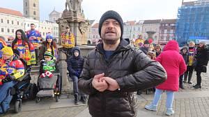 Jiří Mádl točil na českobudějovickém náměstí