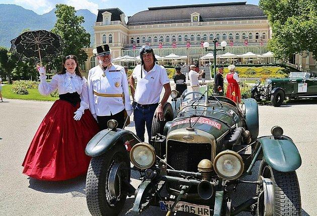 Rallye oldtimerů vBad Ischlu.