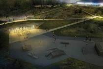 Takhle nějak bude park vypadat po setmění.