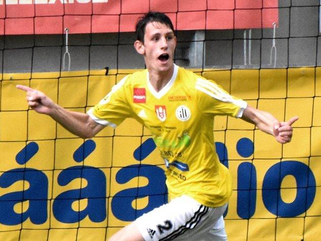 Lukáš Havel dal v druholigovém derby Dynamo - Táborsko (1:1) vedoucí gól domácích.