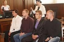 Obžalovaní (zleva) Martin Pöschl, Ondřej Pöschl, David Šimeček a Michal Pöschl.
