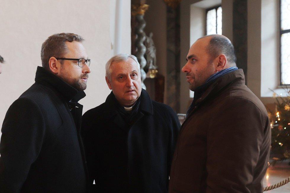 Tříkrálová sbírka v Českých Budějovicích.