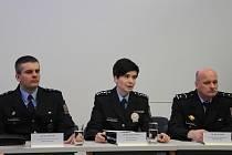 Vedoucí představitelé jihočeské cizinecké policie (zleva) Jiří Stuchlý, Ivana Zelenáková a Jan Vrátný.
