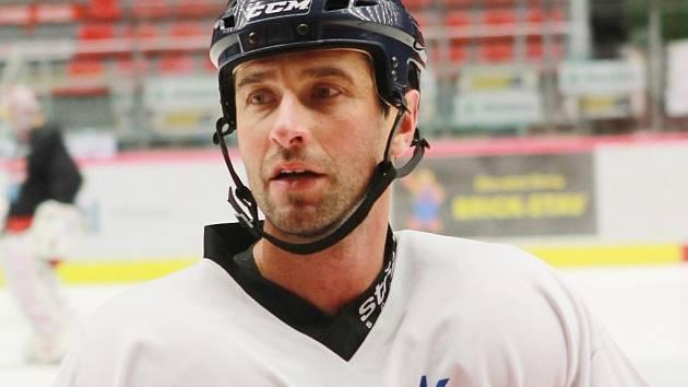 Radek Dvořák na tréninku HC Mountfield.