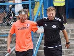 Trenéři Slavie a Dynama Jarislav Šilhavý a David Horejš před vzájemným utkáním v Benešově.