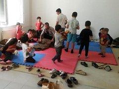 Osm dospělých a jedenáct dětí původem ze Sýrie zadrželi policisté u Jenišova na Lipensku.