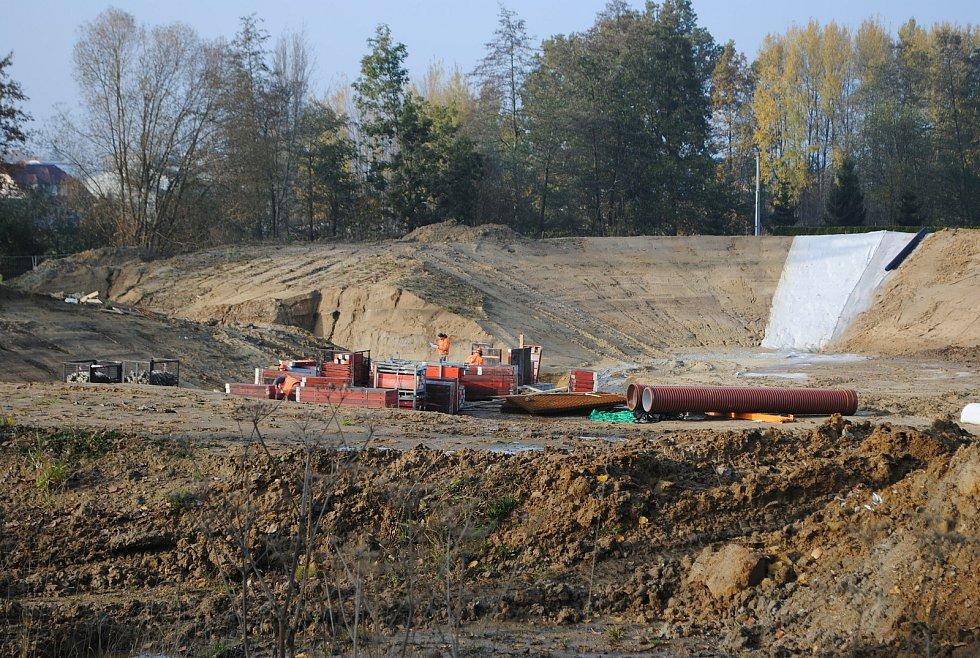 Výstavba D3 u Hlinska.