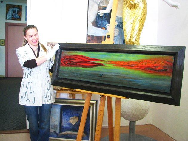 Obraz od Toyen (na snímku Světlana Procházková).