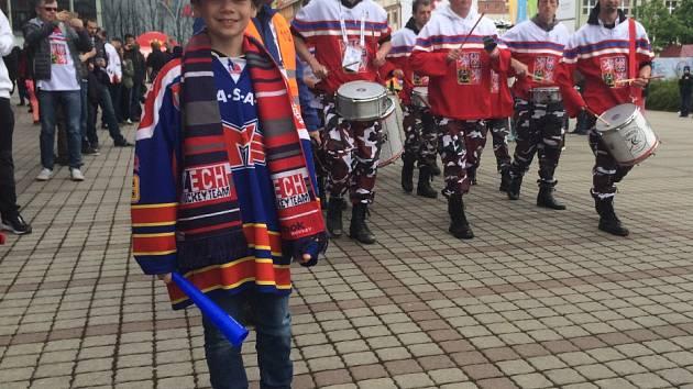 Jakub Bednařík si užívá atmosféru mistrovství světa.