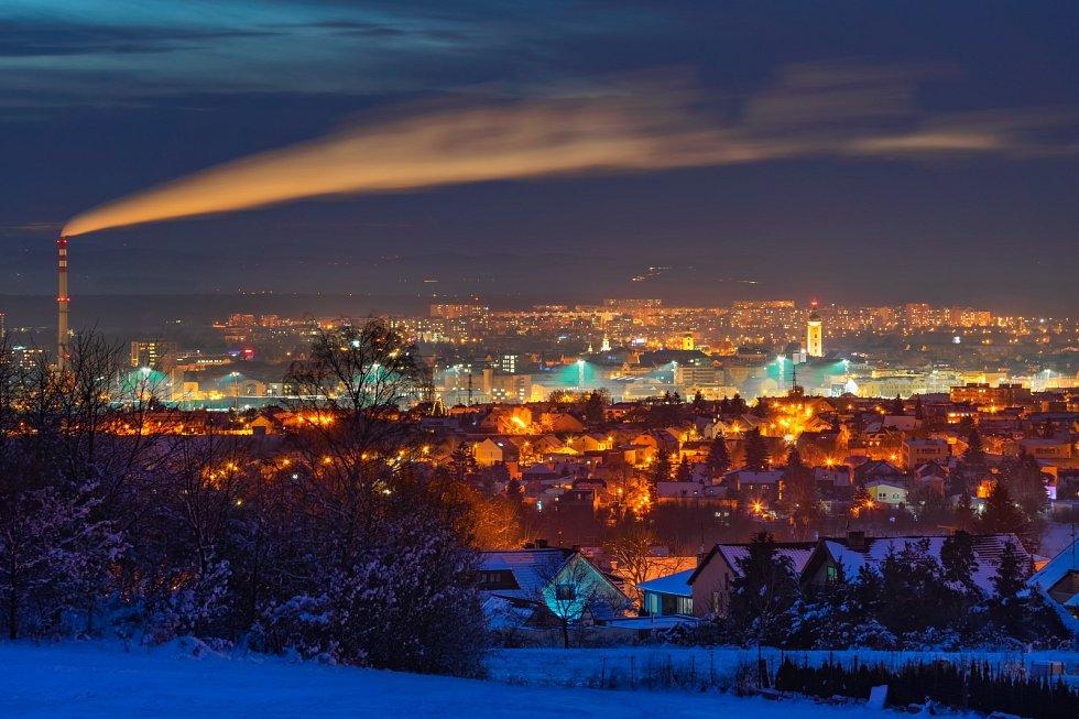 Pohled na Budějce ze Srubce.