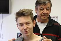Petr Rozboud se svým trenérem Miroslavem Foralem.