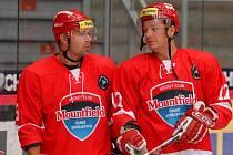 Jan Novák (vpravo) spolu s Milanem Gulašem.