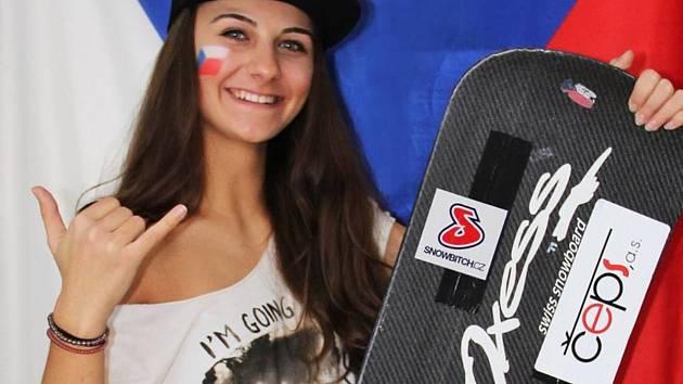 Snowboardisté bojují o letenky na Nový Zéland - Sára Veselková.