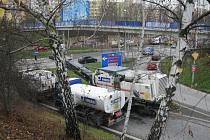 Křižovatka Diamant na českobudějovickém sídlišti Vltava.