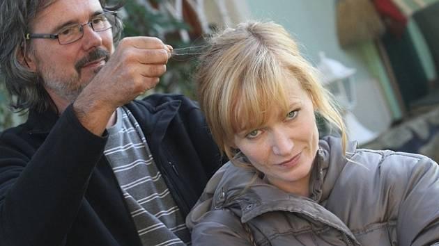 Záběry z natáčení filmu Líbánky na Třeboňsku.