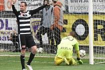 Jiří Kladrubský se v zápase Dynama s Baníkem raduje ze svého gólu. Budou se Jihočeši podobně radovat i ve středečních zápasech?