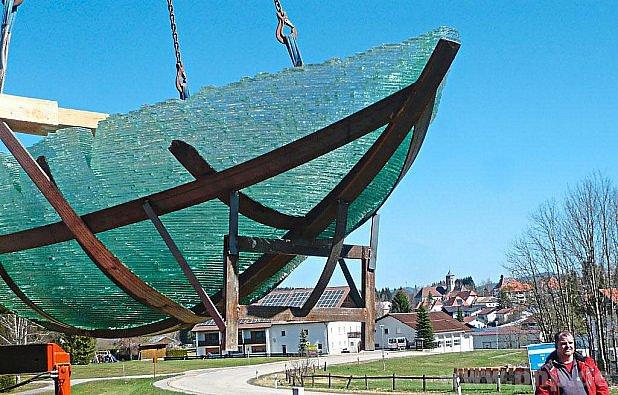 Archa přistává v Haidmühle.